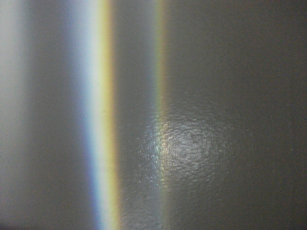 Rainbows will appear on the walls.