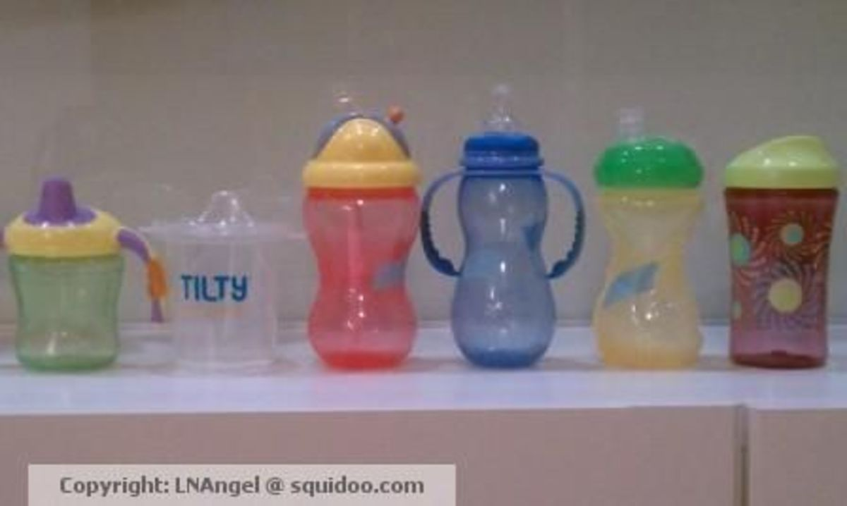 The lineup I used to transition from bottle to sippy
