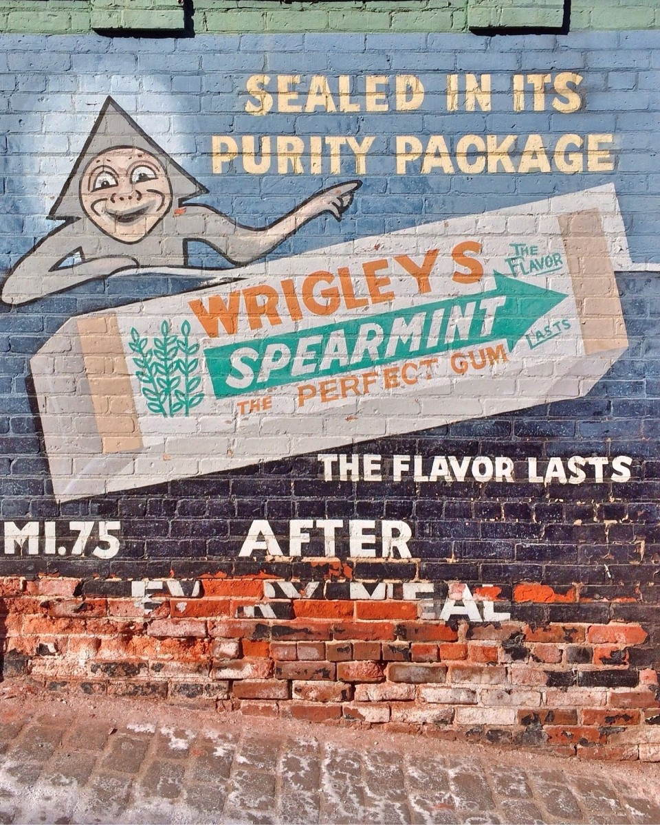 Even older advertisements stressed long-lasting gum.