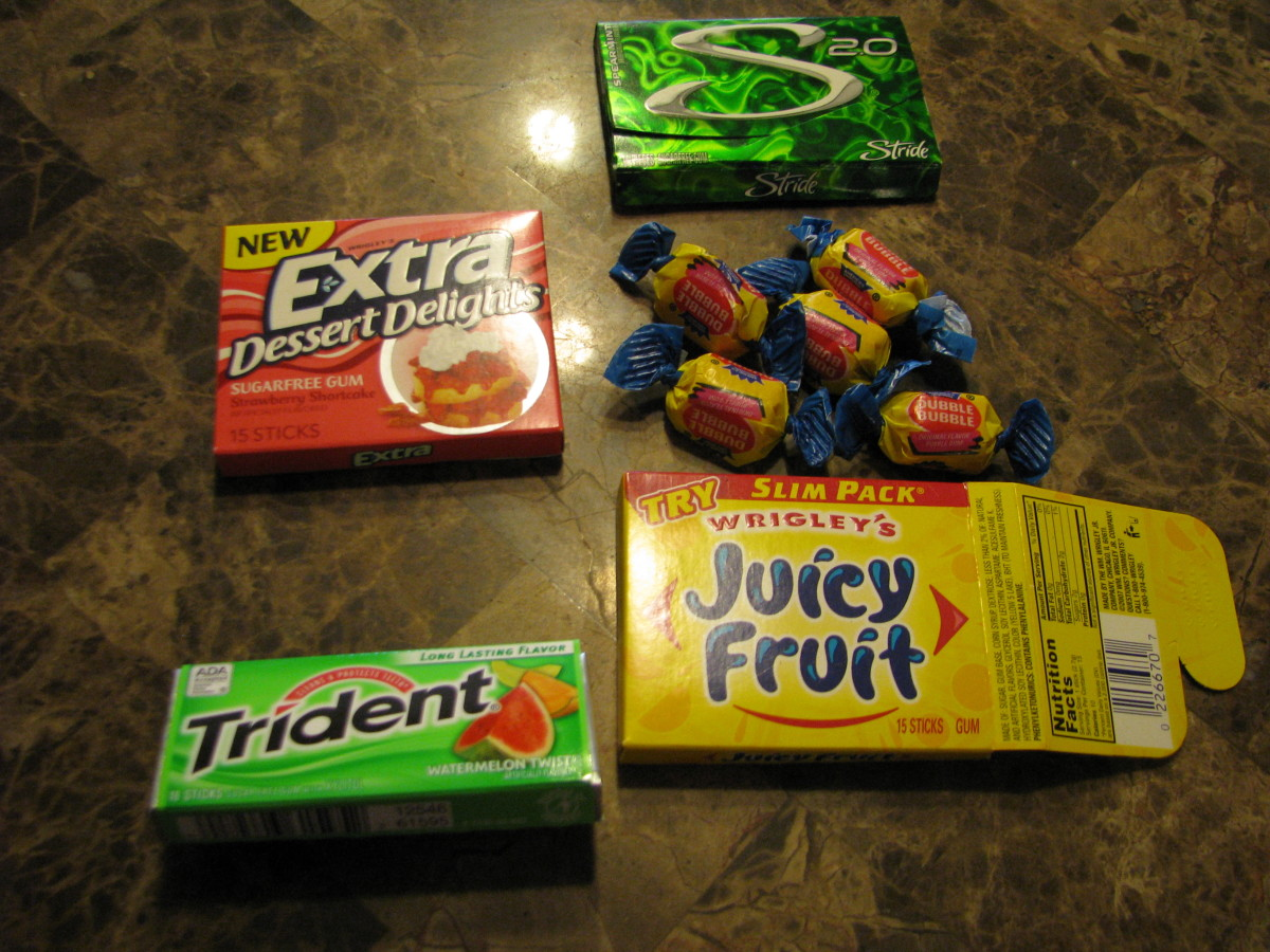 Packs of Gum. Step one: Choose a variety of brands and guess which one will have the longest lasting flavor.