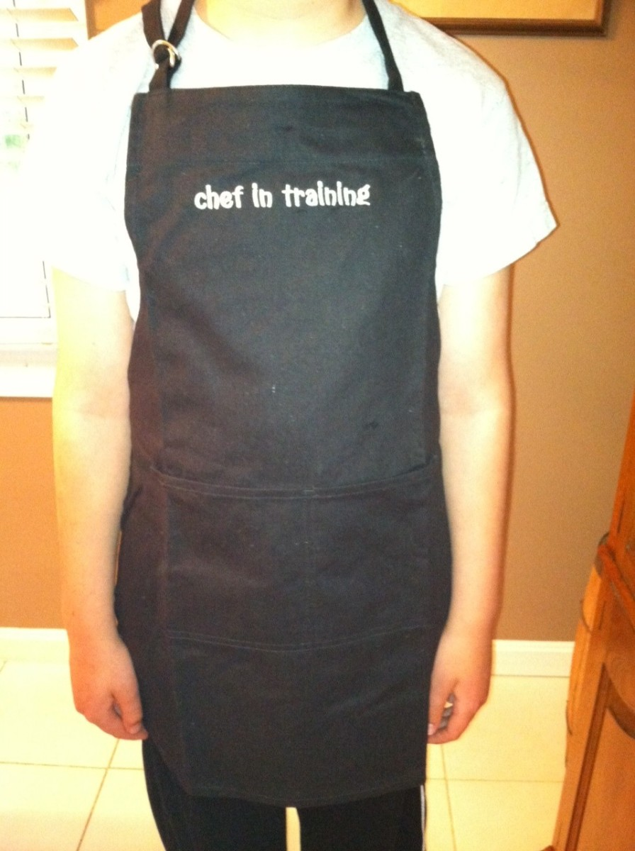 Grandpa sent this apron with the letter, it reinforces the message.