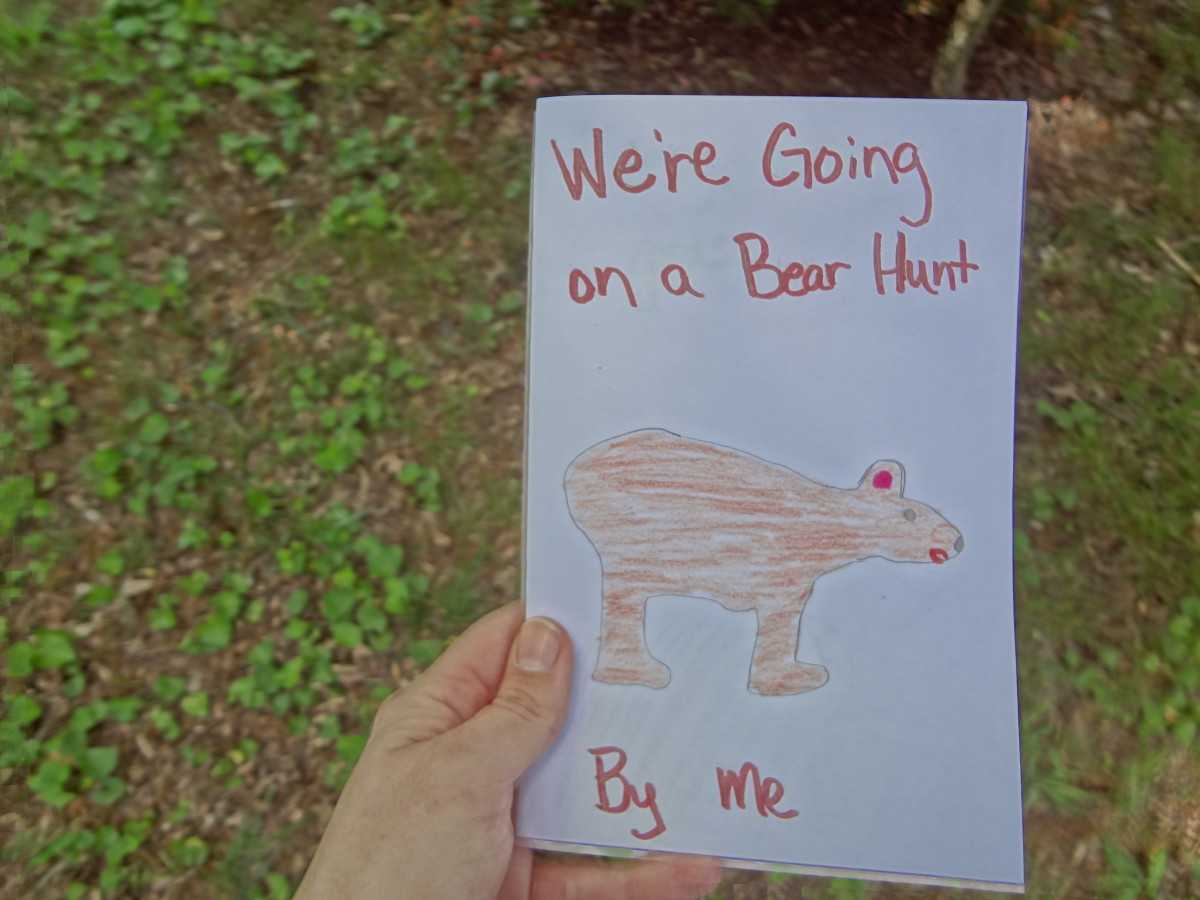 Make a booklet of your bear hunt adventure.
