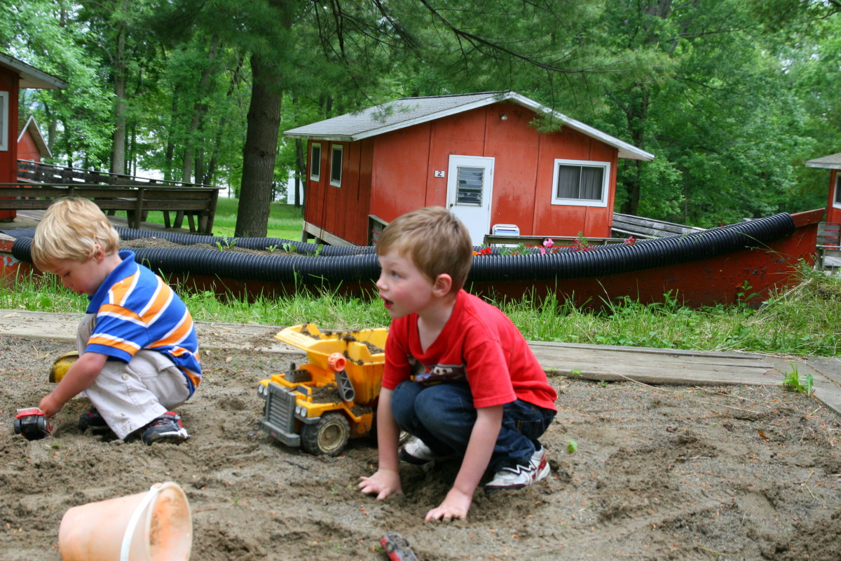 Free play allows children to socialize with kids and resolve conflict. Many important peer-interaction skills are learned in the sandbox (or on the playground).