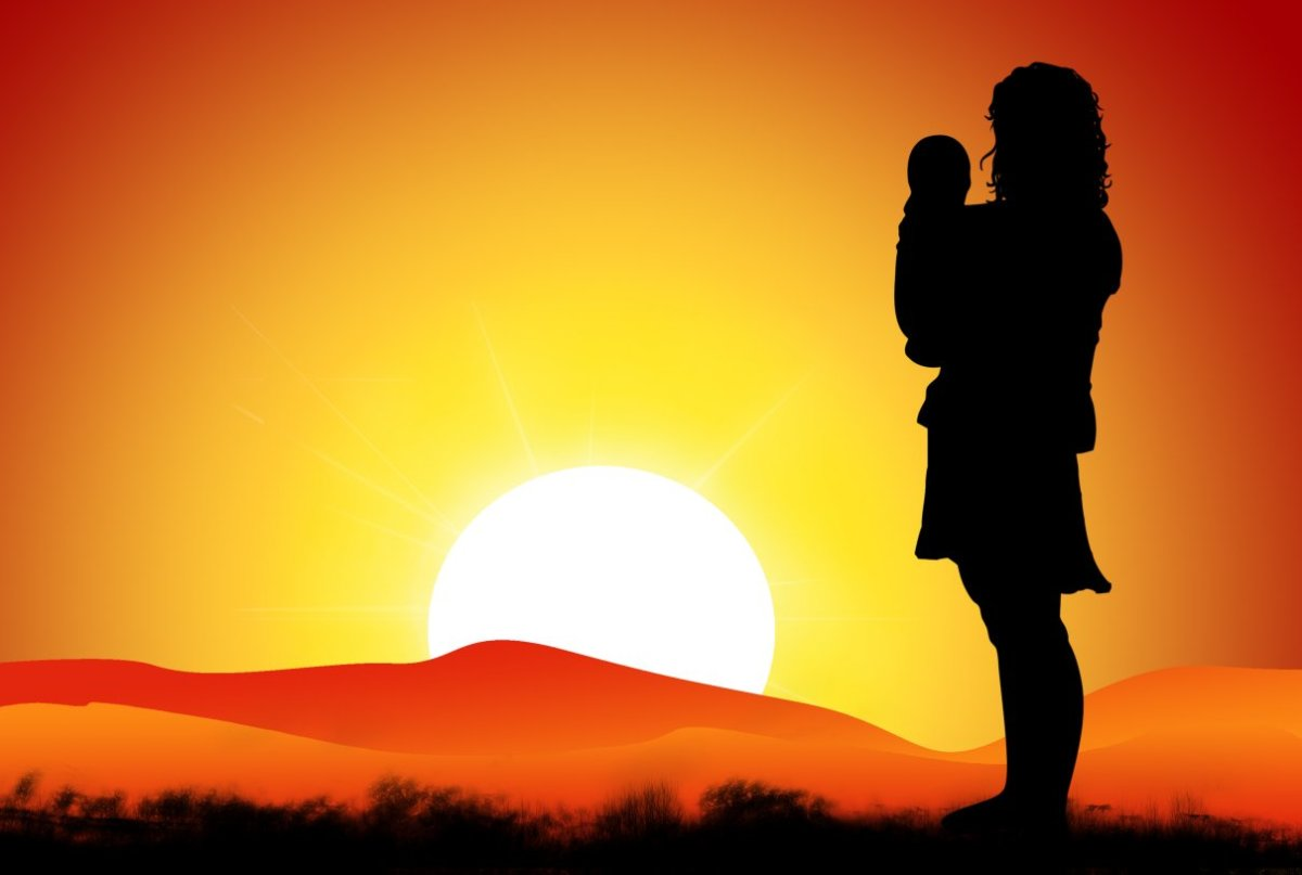 Every day, you get to enjoy a beautiful sunrise because of a woman who has dedicated her life so you can enjoy yours. Thank her and give her a hug - she will love it.