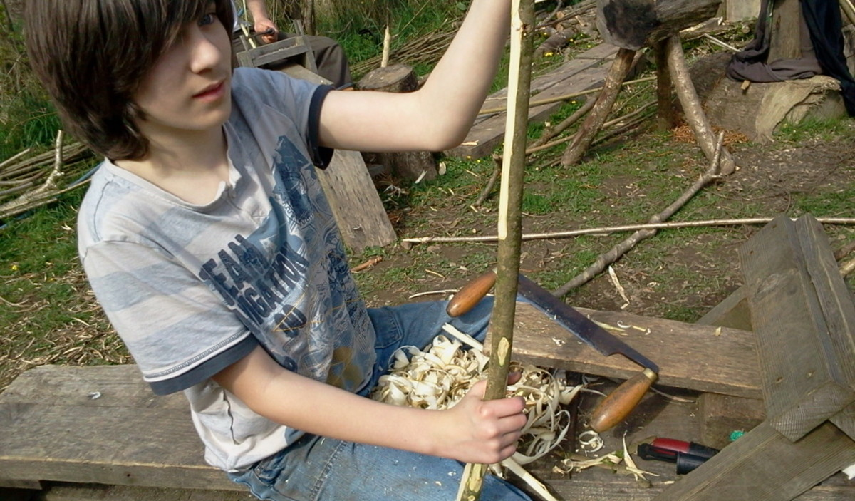 Outdoor classroom. Our son, Alex, gaining credits and having fun.
