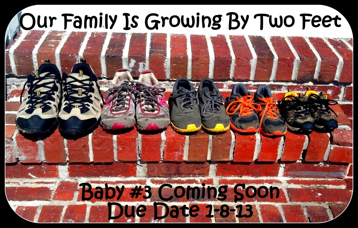 Line up pairs of shoes for a cute pregnancy announcement.