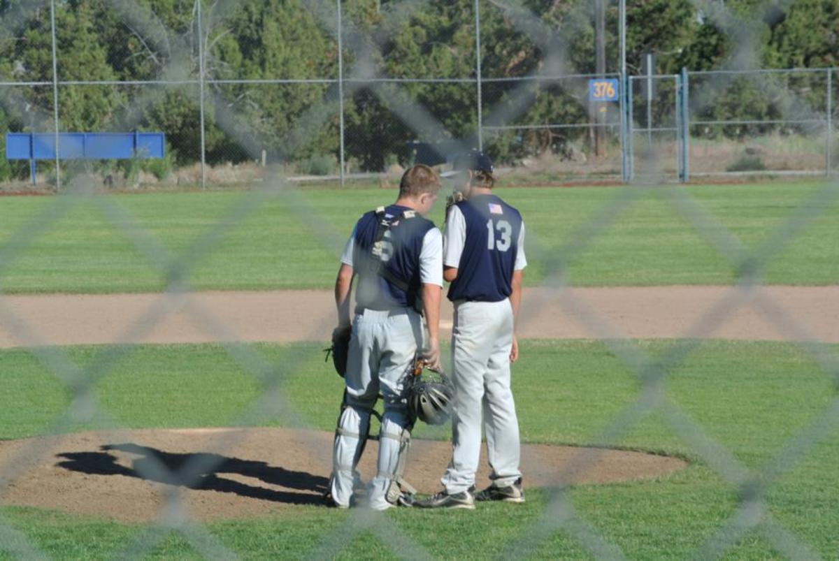 Baseball pitcher and catcher conference