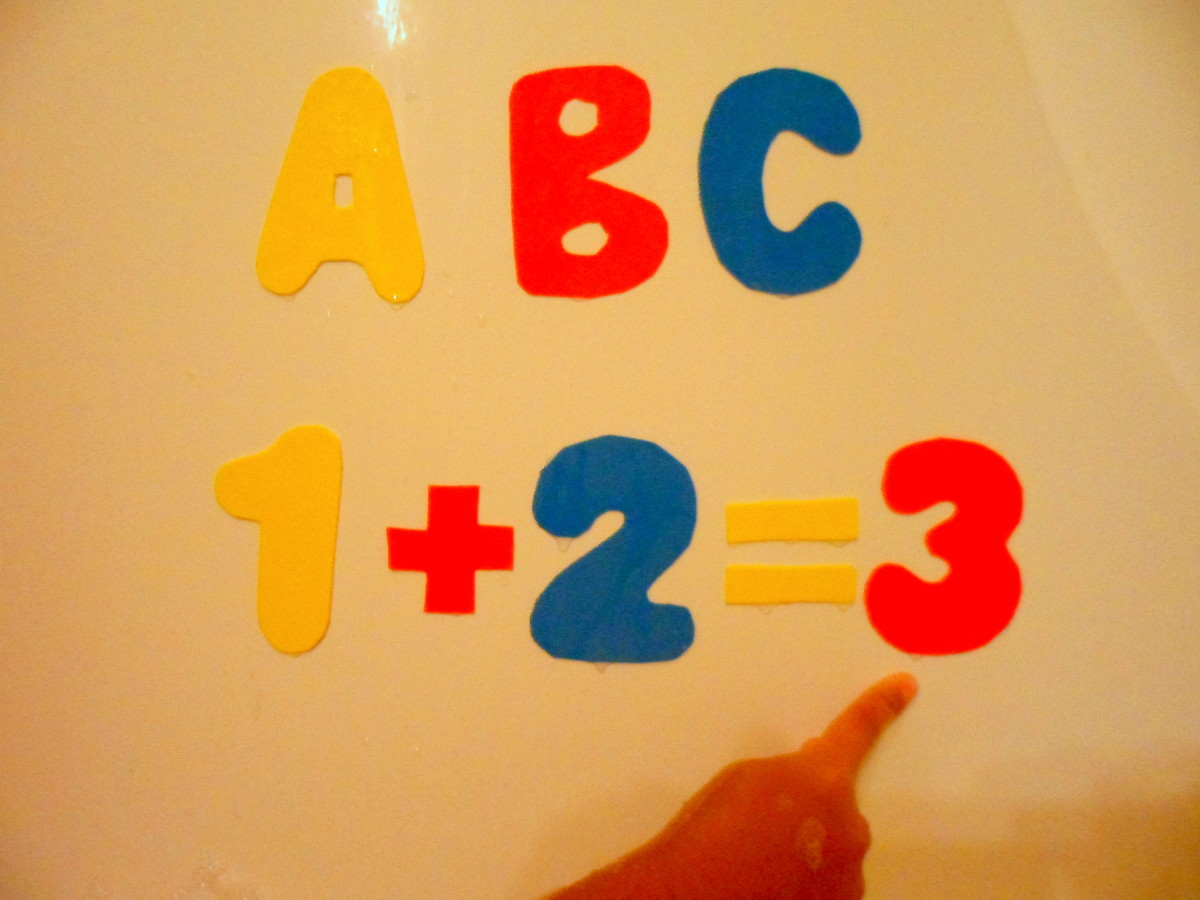 Our homemade bath letters and numbers,