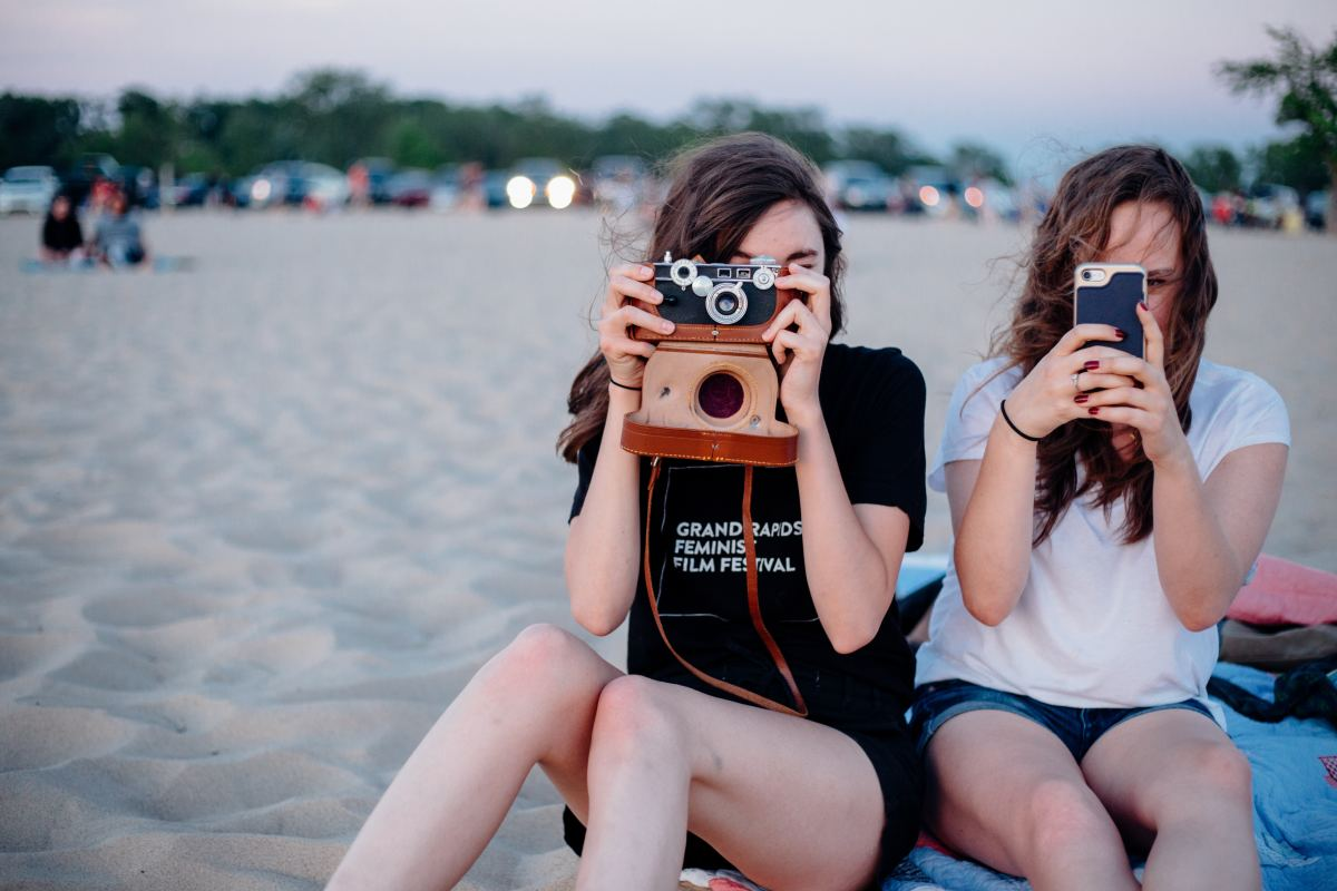Go on a photo safari! Experiment with a polaroid or film camera.