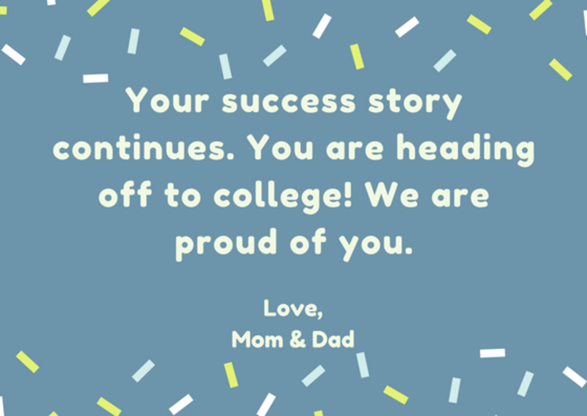 What to Write in a Card to Your Child Who Is Heading off to College