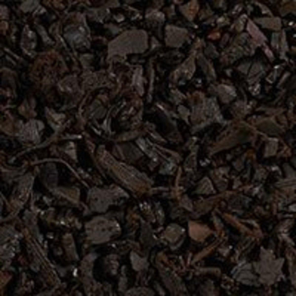 Rubber mulch and bark