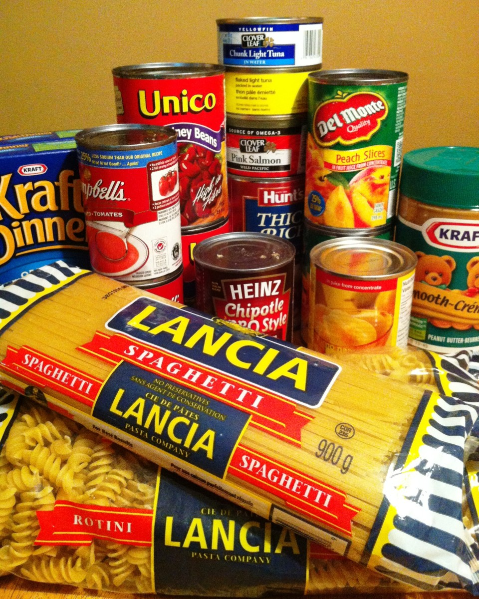 Families can volunteer together at a local food bank.