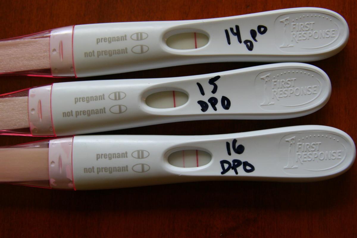 First response pregnancy test strip