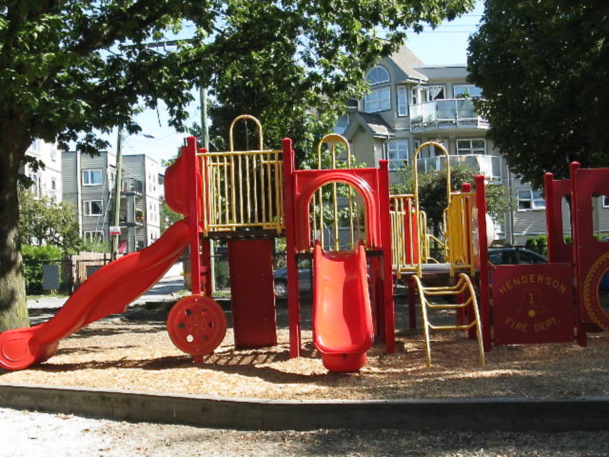 Visiting a playground is fun for children, and it's free.
