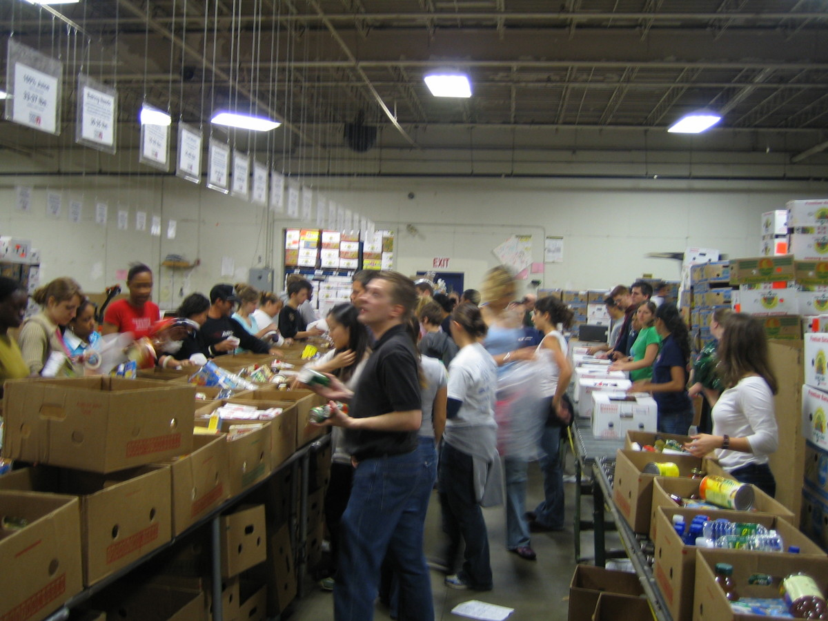 Food banks are busy places that always need volunteers, and both kids and adults can help out.