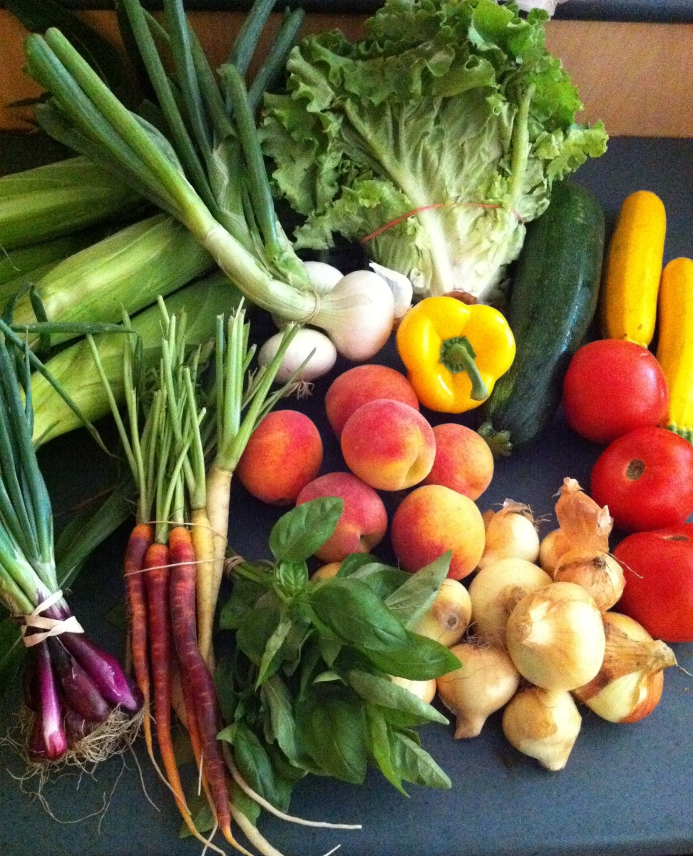 Take your kids with you to buy some fresh and interesting fruits and vegetables at local farms or farmers markets.