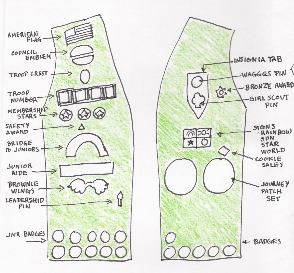 does bronze award patch go vest. Black Bedroom Furniture Sets. Home Design Ideas