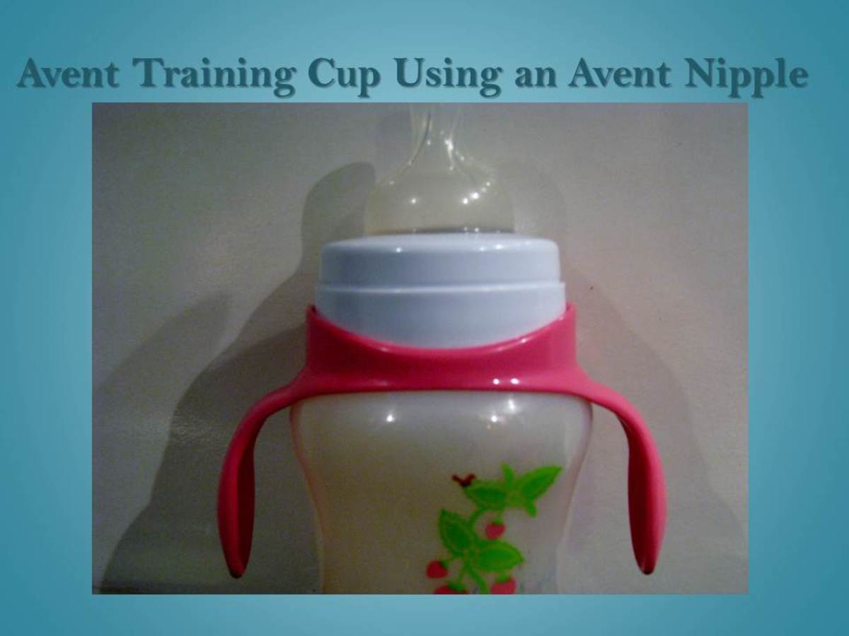 The Avent nipples fit on the training cup to make the transition to cups easier in the beginning.