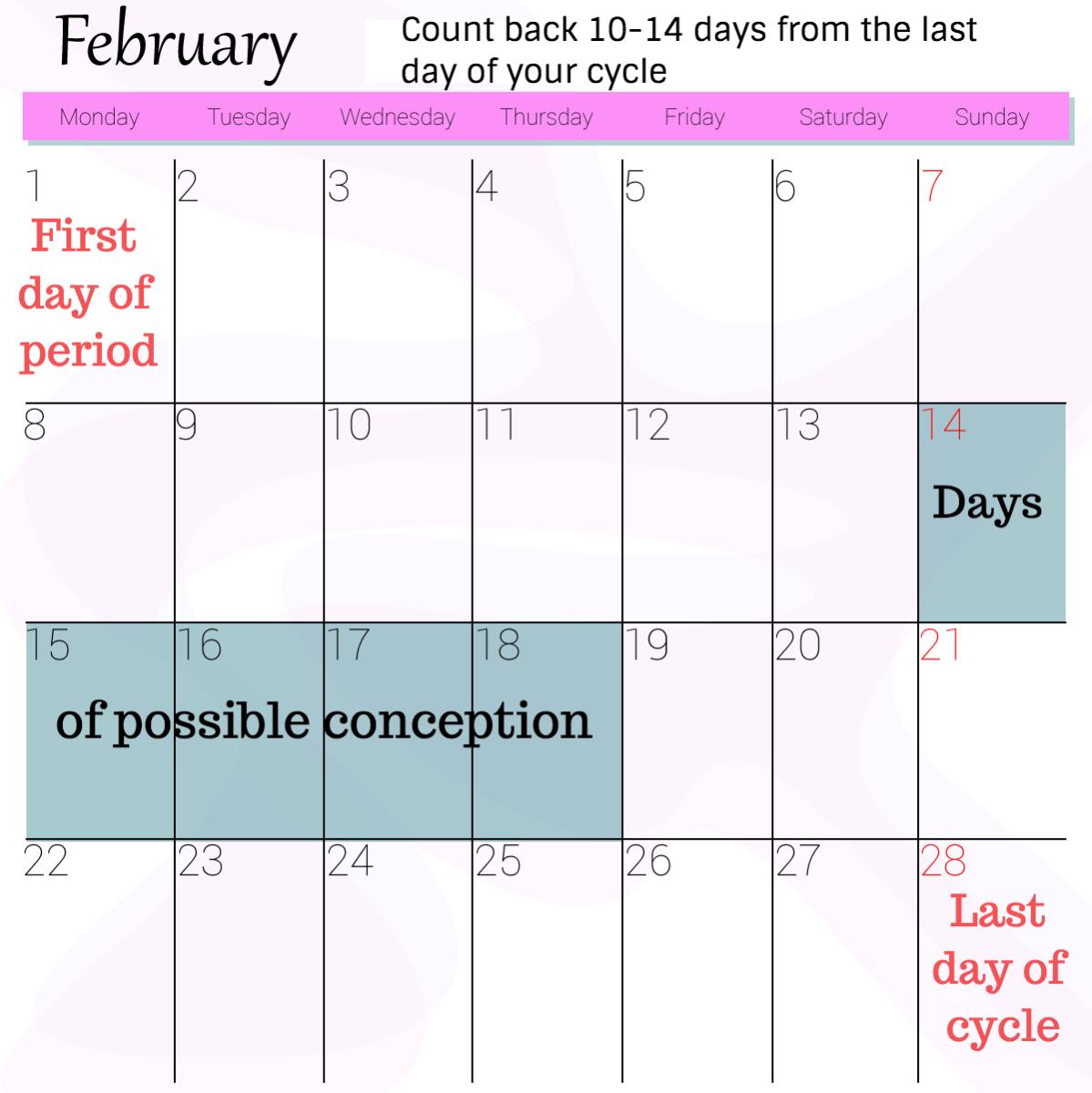 Conception calendar