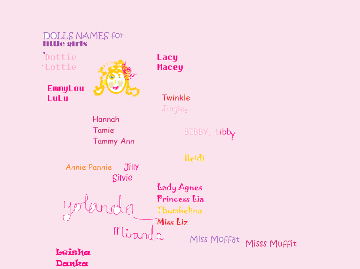 Cute Dolls Names with soft, round, vowel sound