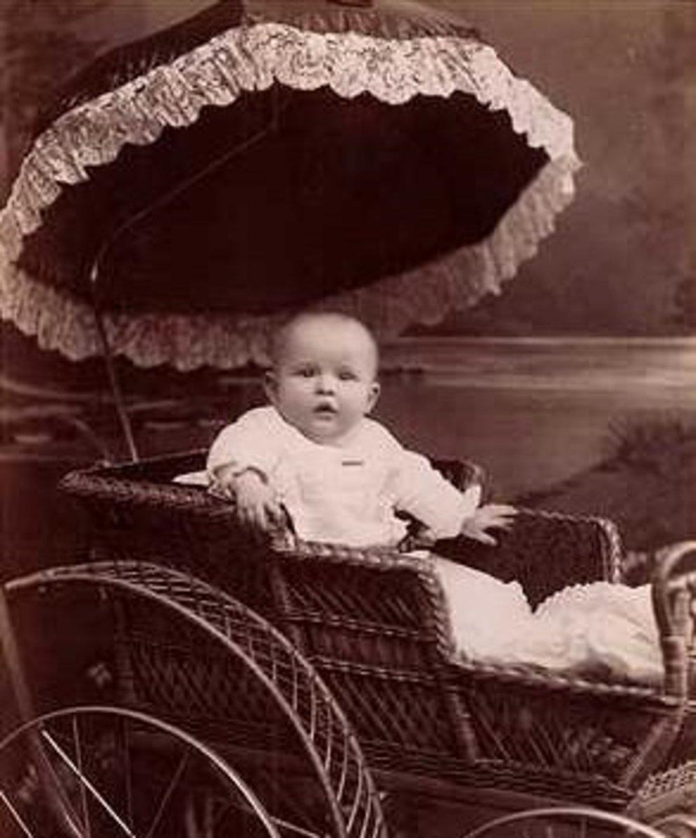 A preppy baby of the Victorian era.