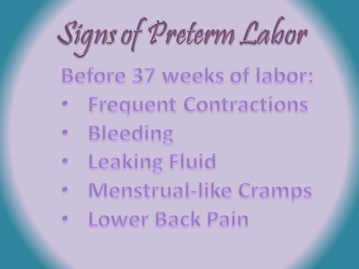 Signs of preterm labor
