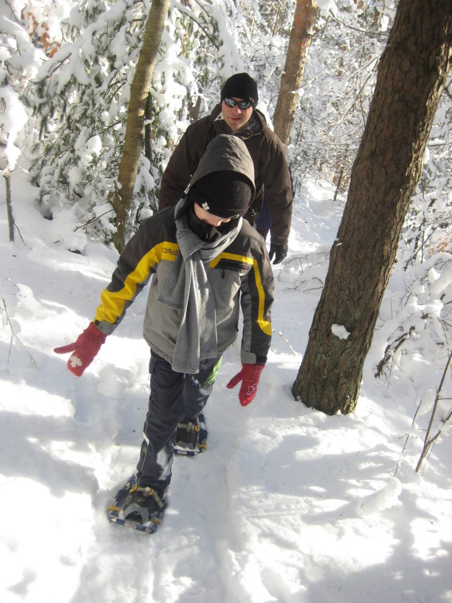 Snowshoeing is a great family activity.
