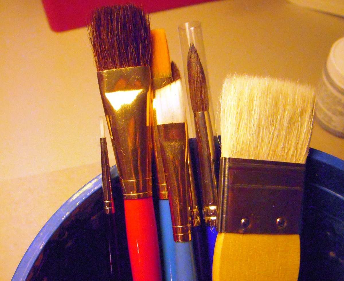 "Good quality art brushes need not be expensive. Look for ""student quality"" brushes, or economical brush sets."