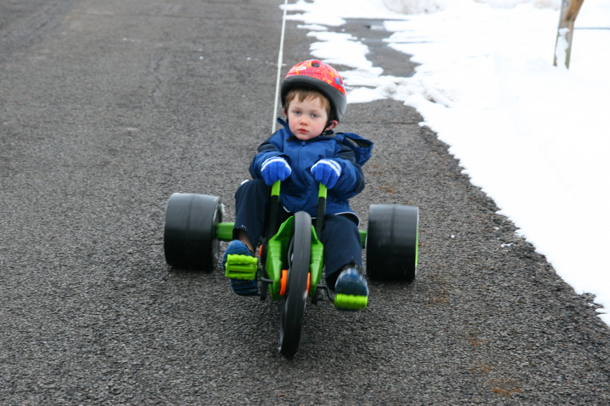 The Green Machine Jr. is perfect for kids in the 5-8 year old age range.