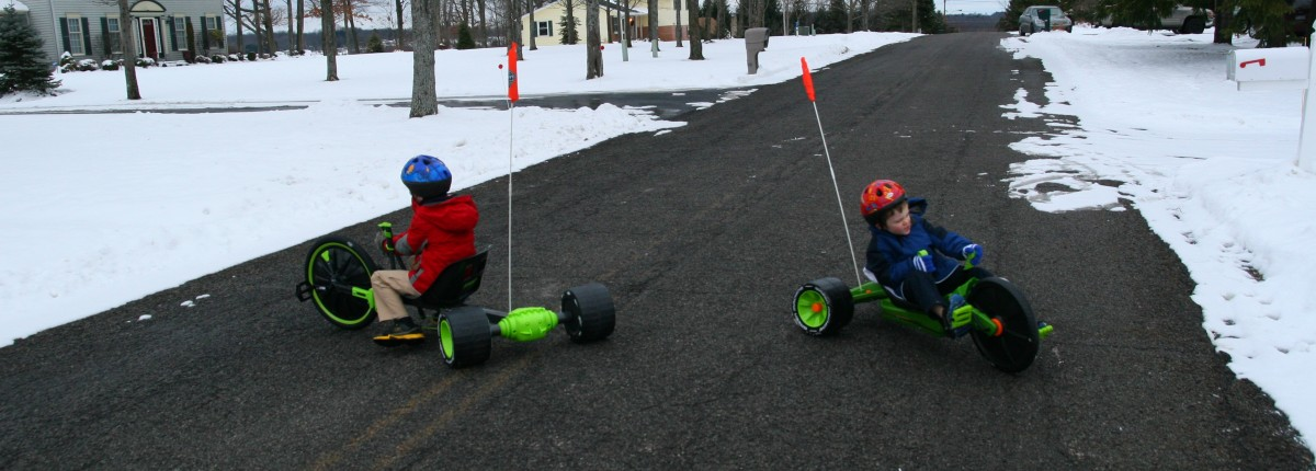 The Huffy Green Machine (left) and the Green Machine Jr. (right) are great fun for kids.