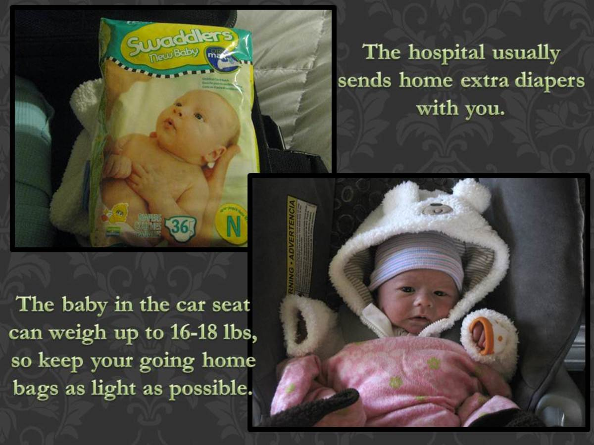 You'll be bringing home some extra items when it's time for baby to go home.