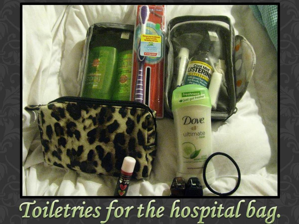 Make sure to bring your makeup, deodorant, shampoo, toothbrush, and toothpaste in your hospital bag.