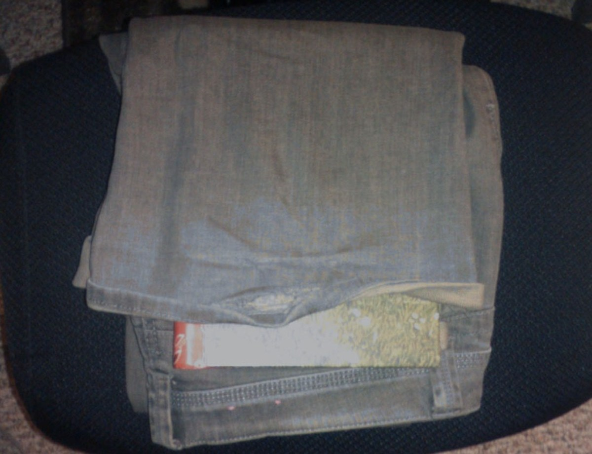 Some diaries are small enough to fit into clothes, such as pant legs.