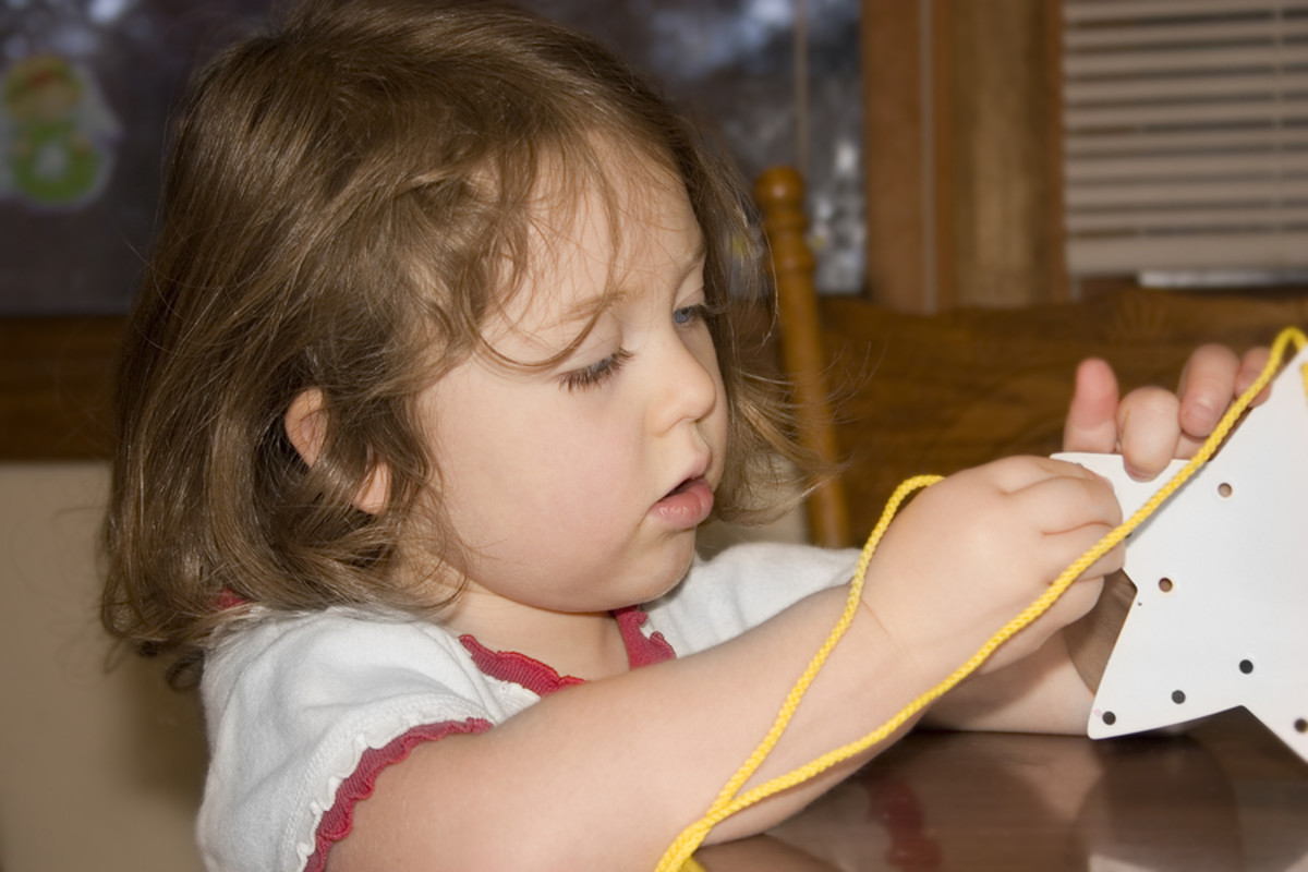 Simple activities such as stitching a star requires hand eye coordination and can go a long way to helping with fine motor skill development.