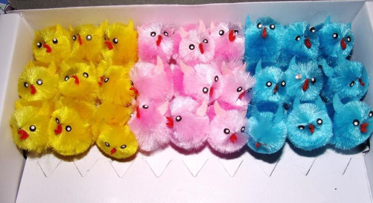 Fuzzy chicks! (Sensory enjoyment!)