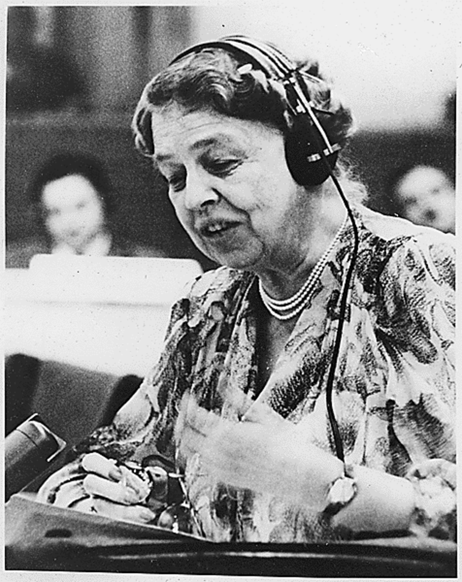 "First Lady Eleanor Roosevelt was also known as ""Fist Lady of the World"" for her work on behalf of human rights"