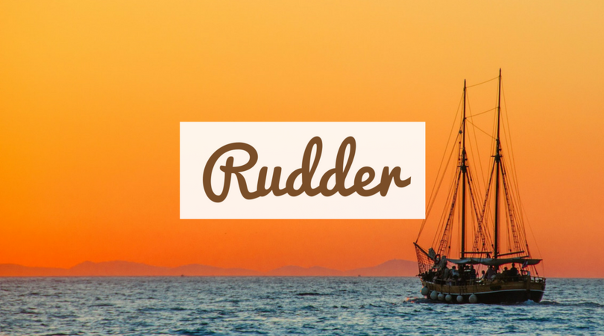 Rudder refers to part of a ship used to steer.