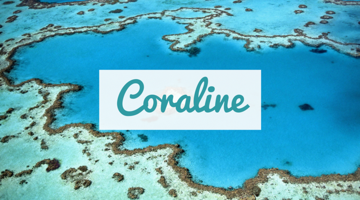 Coraline is an English name inspired by coral, a semi-precious sea growth.