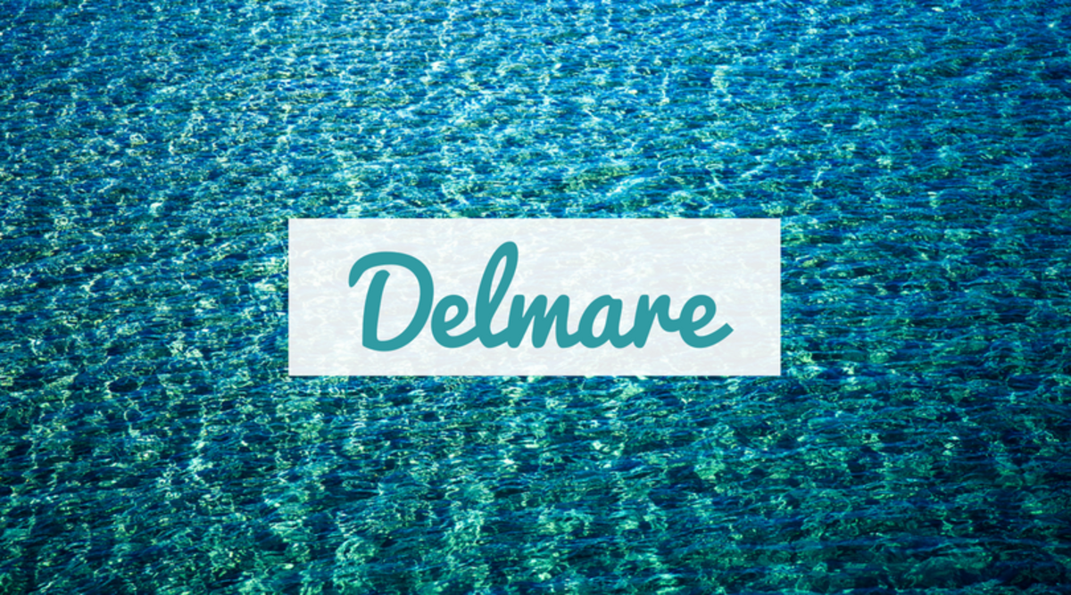 "Interested in a European name? Delmare is French for ""of the sea."""