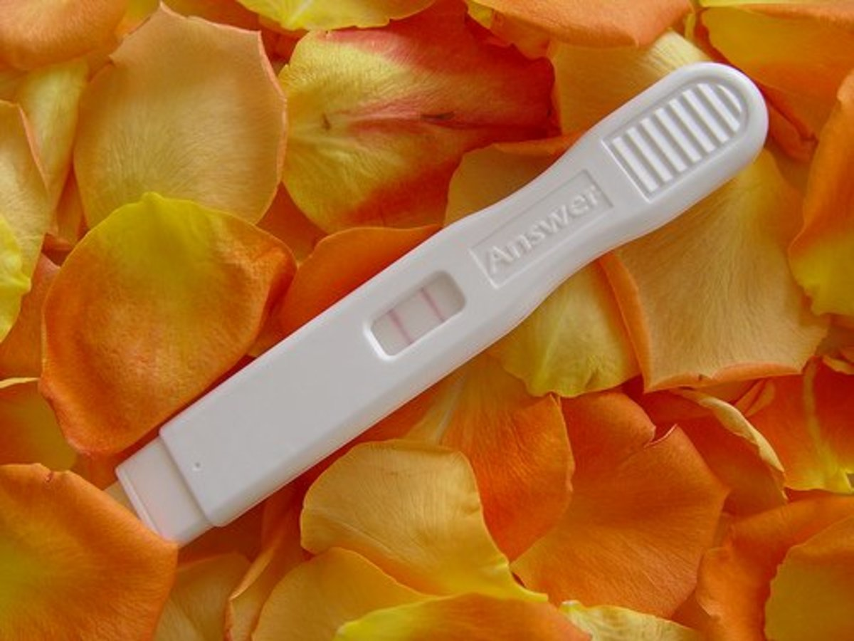A positive result on an Answer pregnancy test.