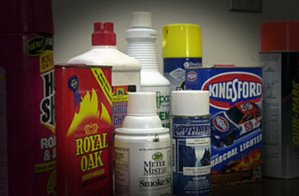 Common household items that can be used as inhalants. Teens may have chemicals in their bedrooms that are typically found under sinks or in a garage or shed.