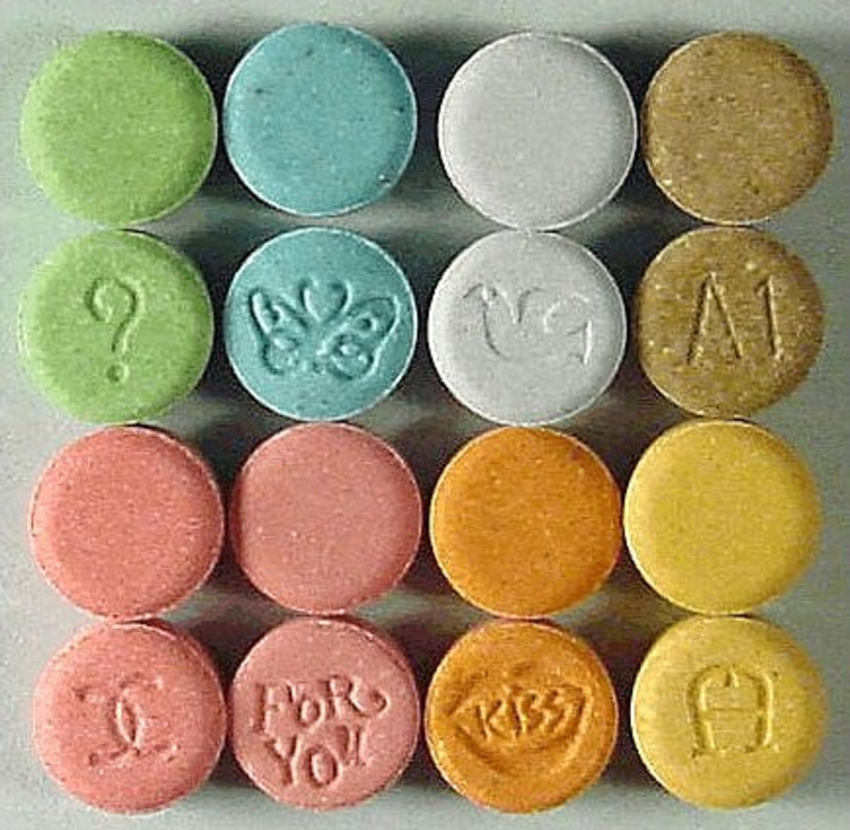 Ecstasy is an example of a club drug that can look like candy.