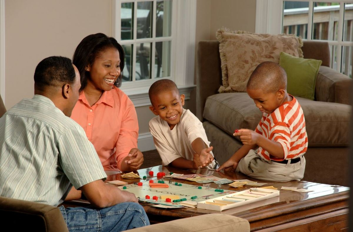 An African American family
