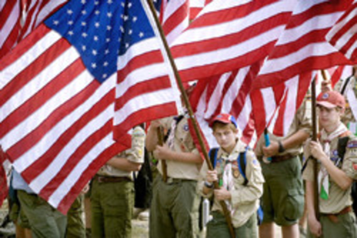 The scouting program is widely known for showing their support for their country.
