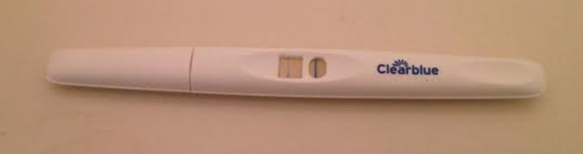 Japanese Clear Blue pregnancy test from Aoki drugstore.
