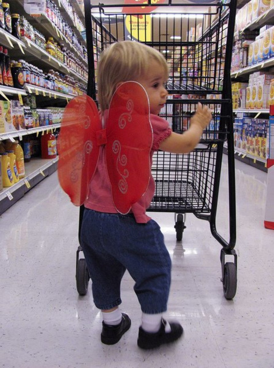 Toddlers love pushing the cart and helping you pick out items.
