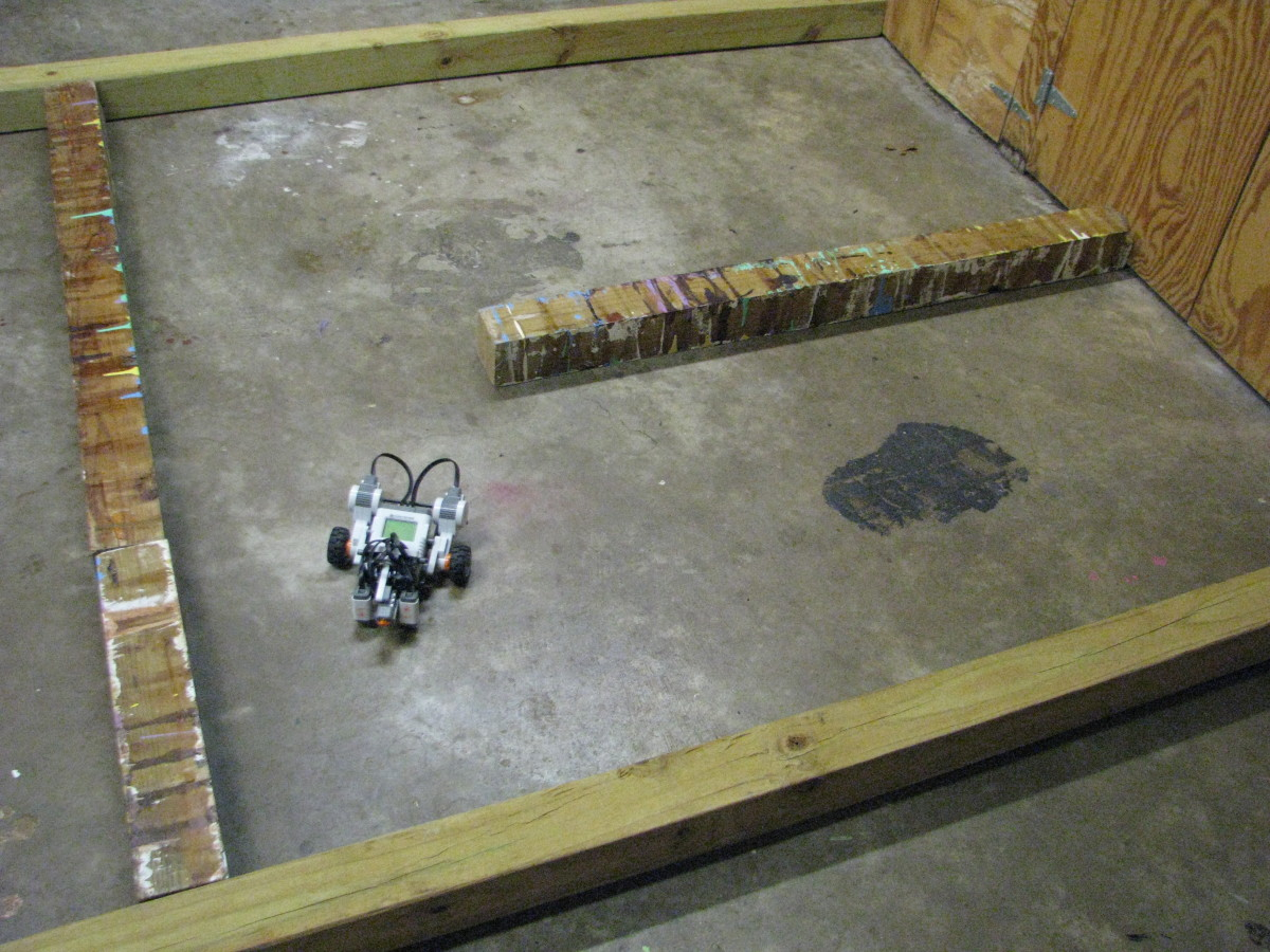 Lego Robot in two rooms