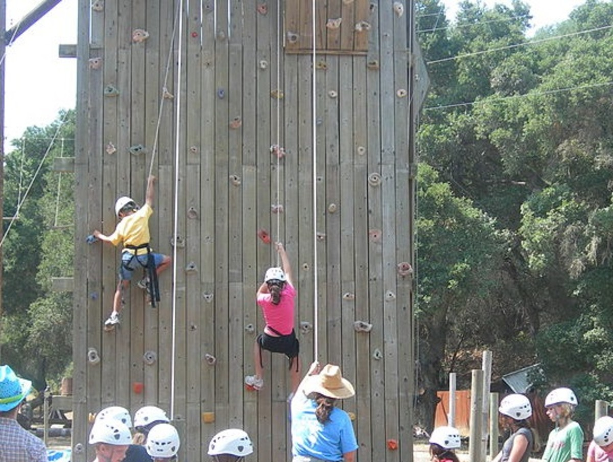 Rock Climbing is a fun activity for multiple ages.