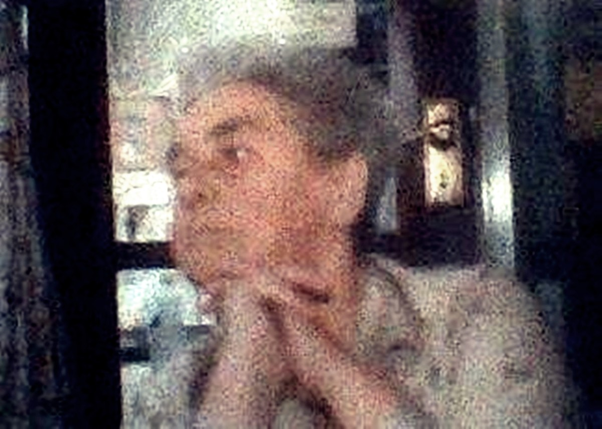The last photo I ever took of my grandma, when she was in her 80s, sitting in a café over a pot of tea, watching the world go by.