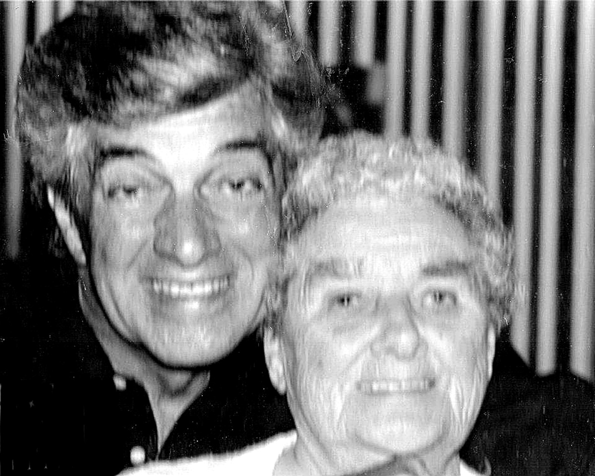 My grandma with the singer, Frankie Vaughan. She had been friends with his mother in their youth and always followed his career with interest.